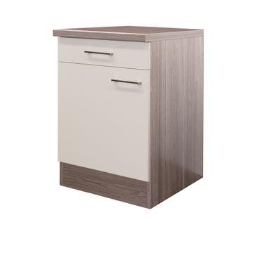 Küchen-Unterschrank EICO - 1-türig - 60 cm breit - Creme Samtmatt