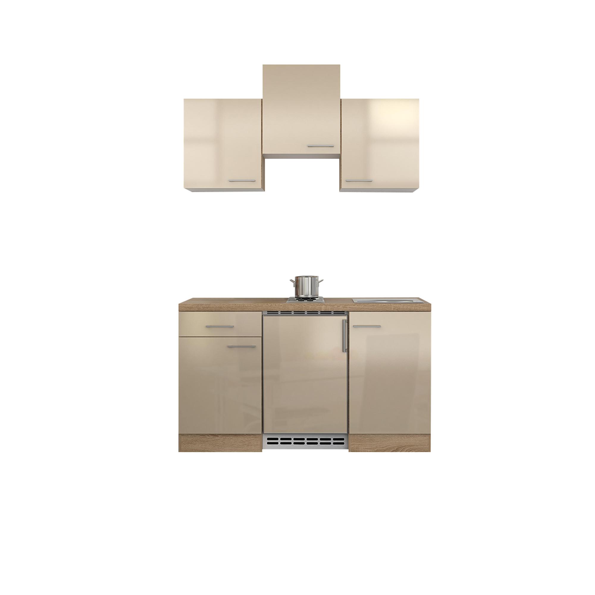 singlek che nepal mit elektrokochfeld und k hlschrank breite 150 cm creme k che singlek chen. Black Bedroom Furniture Sets. Home Design Ideas