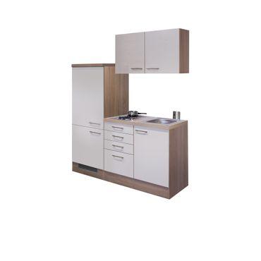 Singleküche NEPAL - Breite 160 cm - Creme glänzend