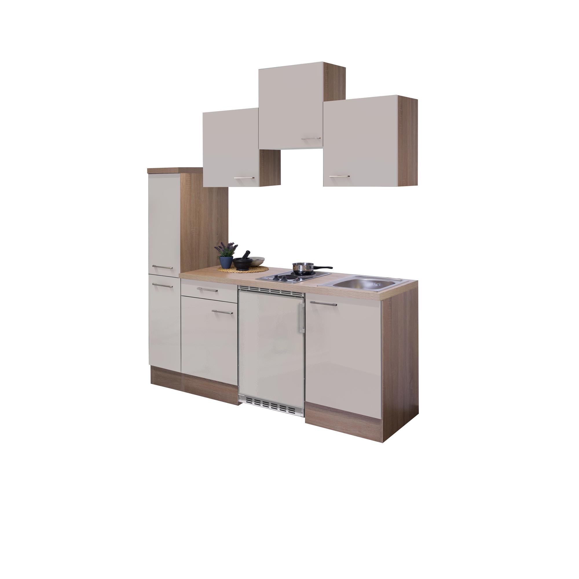 singlek che nepal 10 teilig 180 cm breit creme gl nzend k che singlek chen. Black Bedroom Furniture Sets. Home Design Ideas