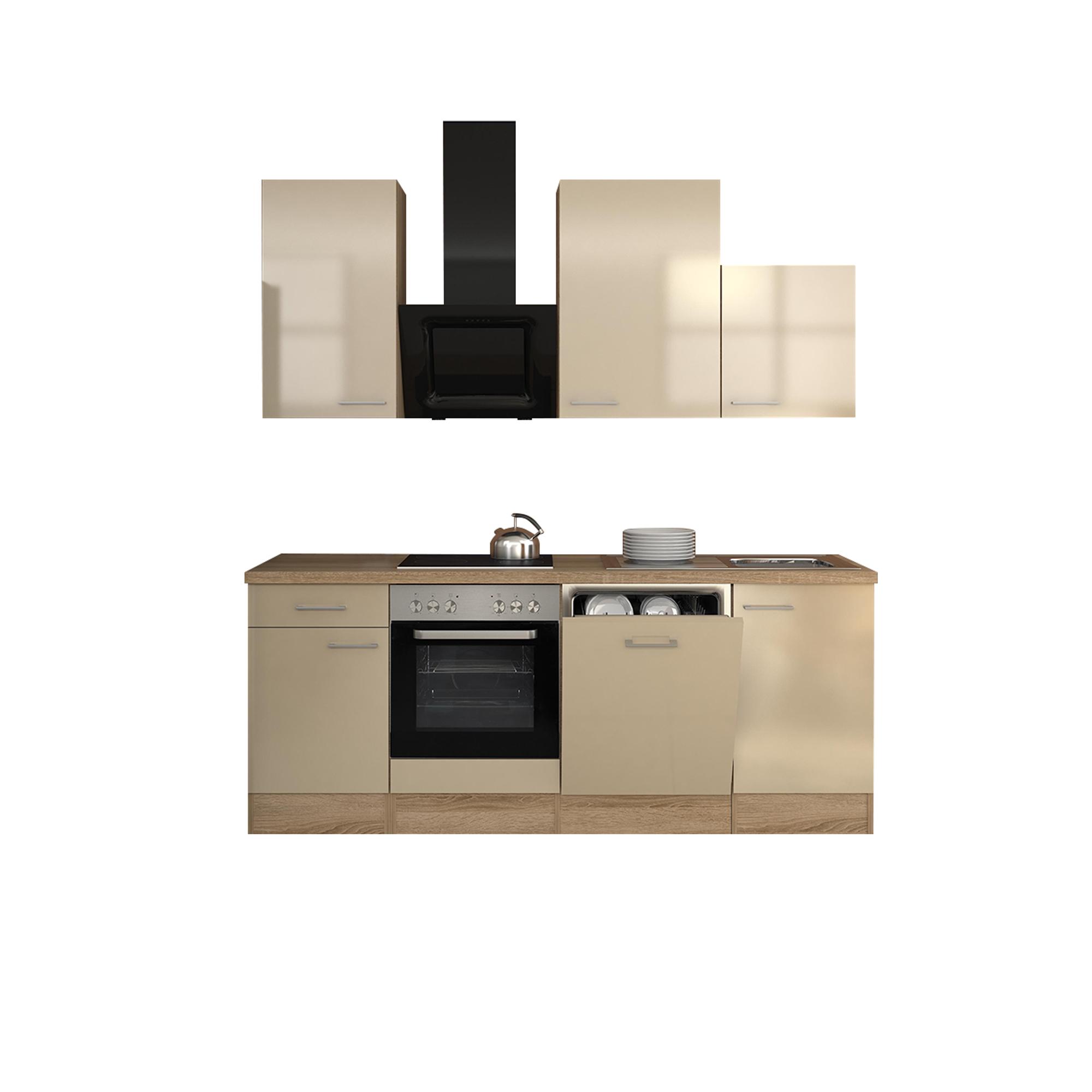 k chenzeile nepal k che mit design abzugshaube breite 220 cm creme k che k chenzeilen. Black Bedroom Furniture Sets. Home Design Ideas