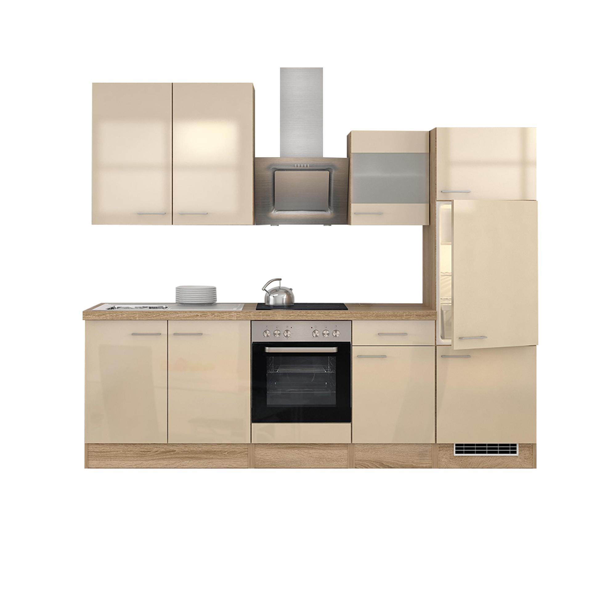 k chenzeile nepal mit e ger ten und glash nger breite 270 cm creme k che k chenzeilen. Black Bedroom Furniture Sets. Home Design Ideas