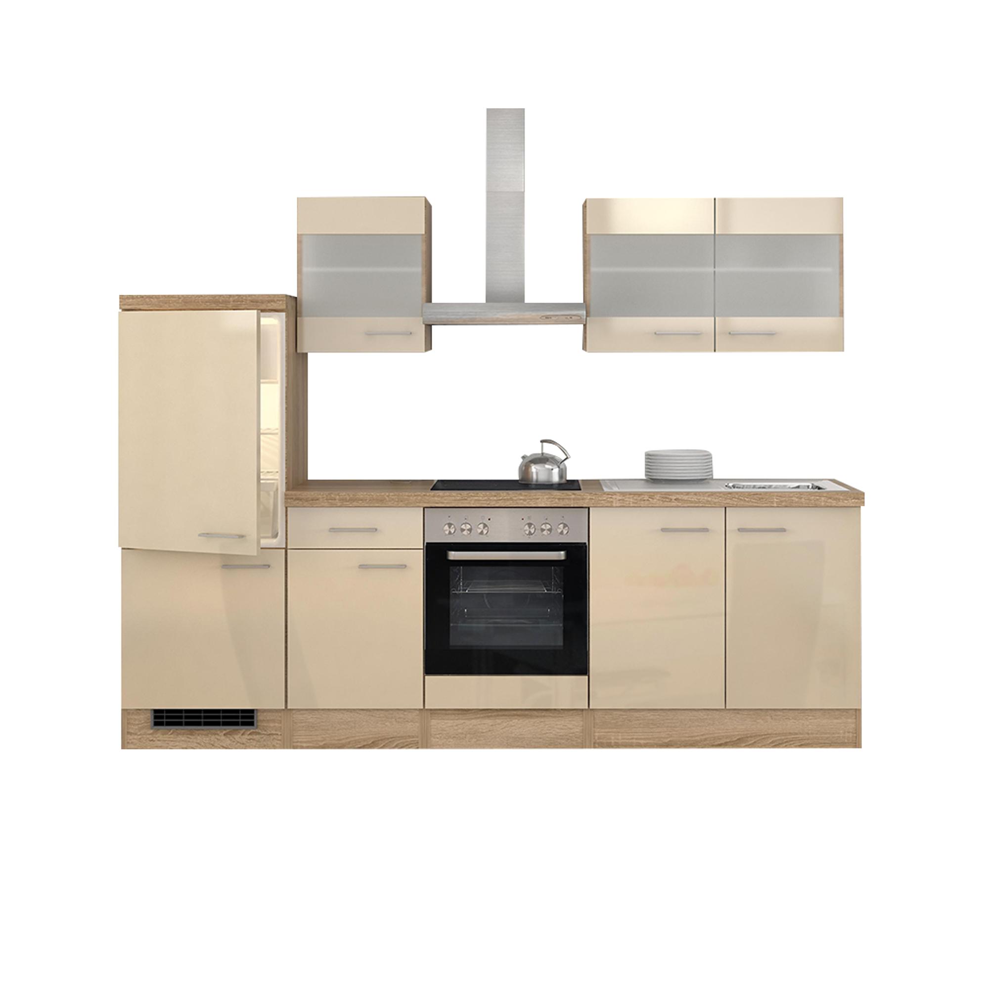 k chenzeile nepal mit midiumbau und ger ten 12 teilig breite 270 cm creme k che k chenzeilen. Black Bedroom Furniture Sets. Home Design Ideas
