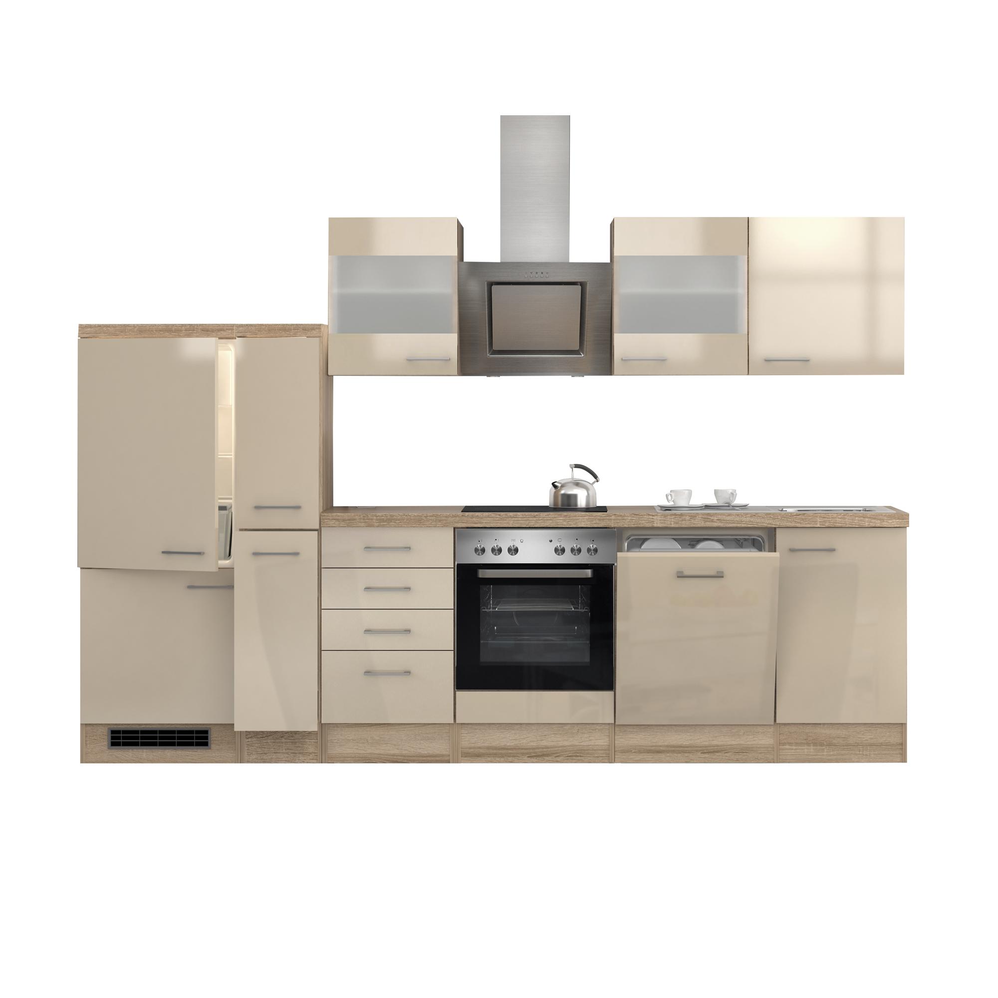 k chenzeile nepal e ger te 2 glash nger 15 teilig breite 310 cm creme k che k chenzeilen. Black Bedroom Furniture Sets. Home Design Ideas