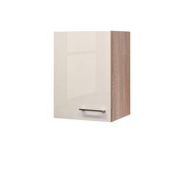 Küchen-Hängeschrank NEPAL - 1-türig - 40 cm breit - Creme glänzend