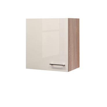 Küchen-Hängeschrank NEPAL - 1-türig - 50 cm breit - Creme glänzend