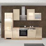 Küchen-Glashängeschrank NEPAL - 1-türig - 50 cm breit - Creme glänzend