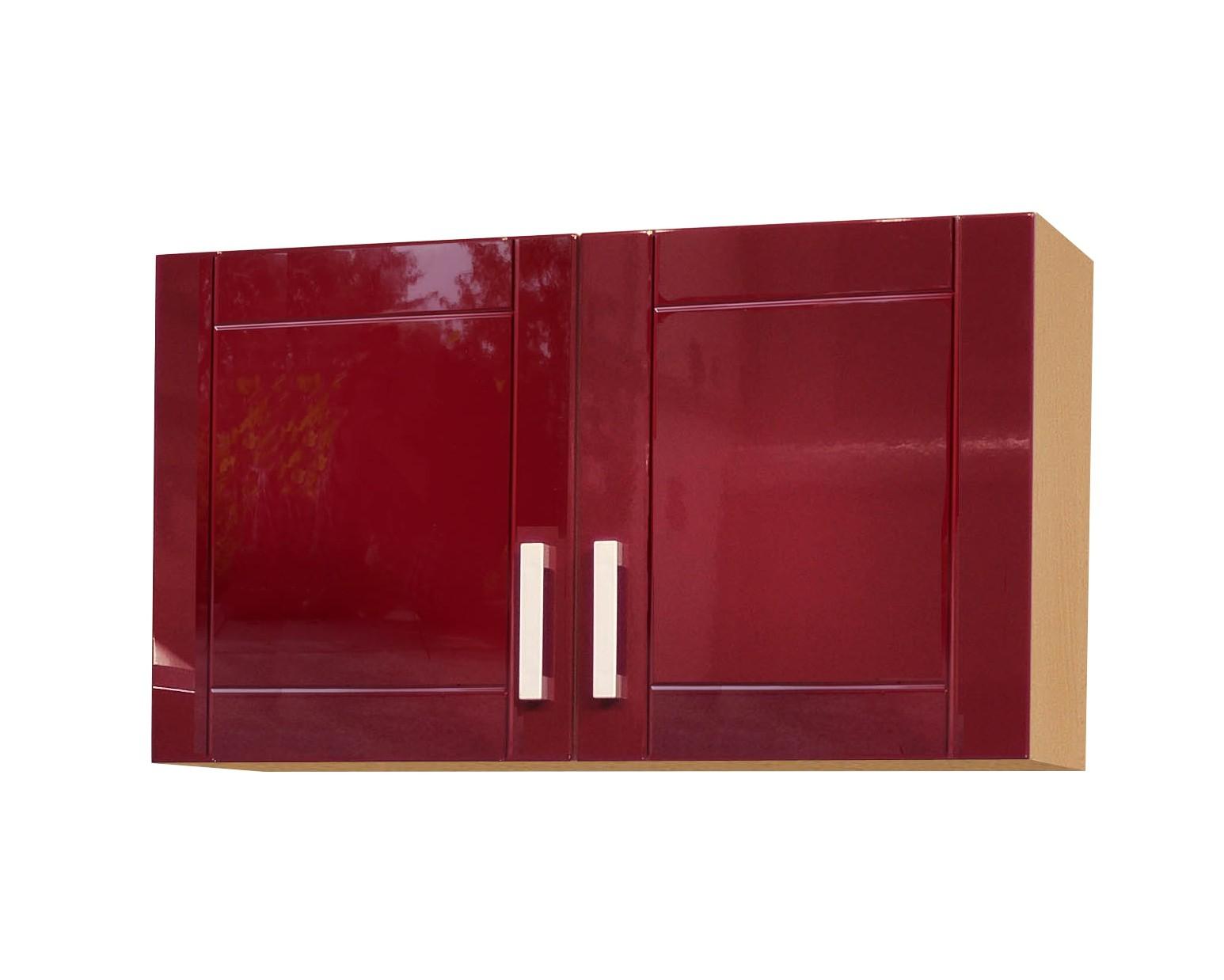 k chen h ngeschrank varel k chenschrank oberschrank 100cm hochglanz bordeaux rot ebay. Black Bedroom Furniture Sets. Home Design Ideas