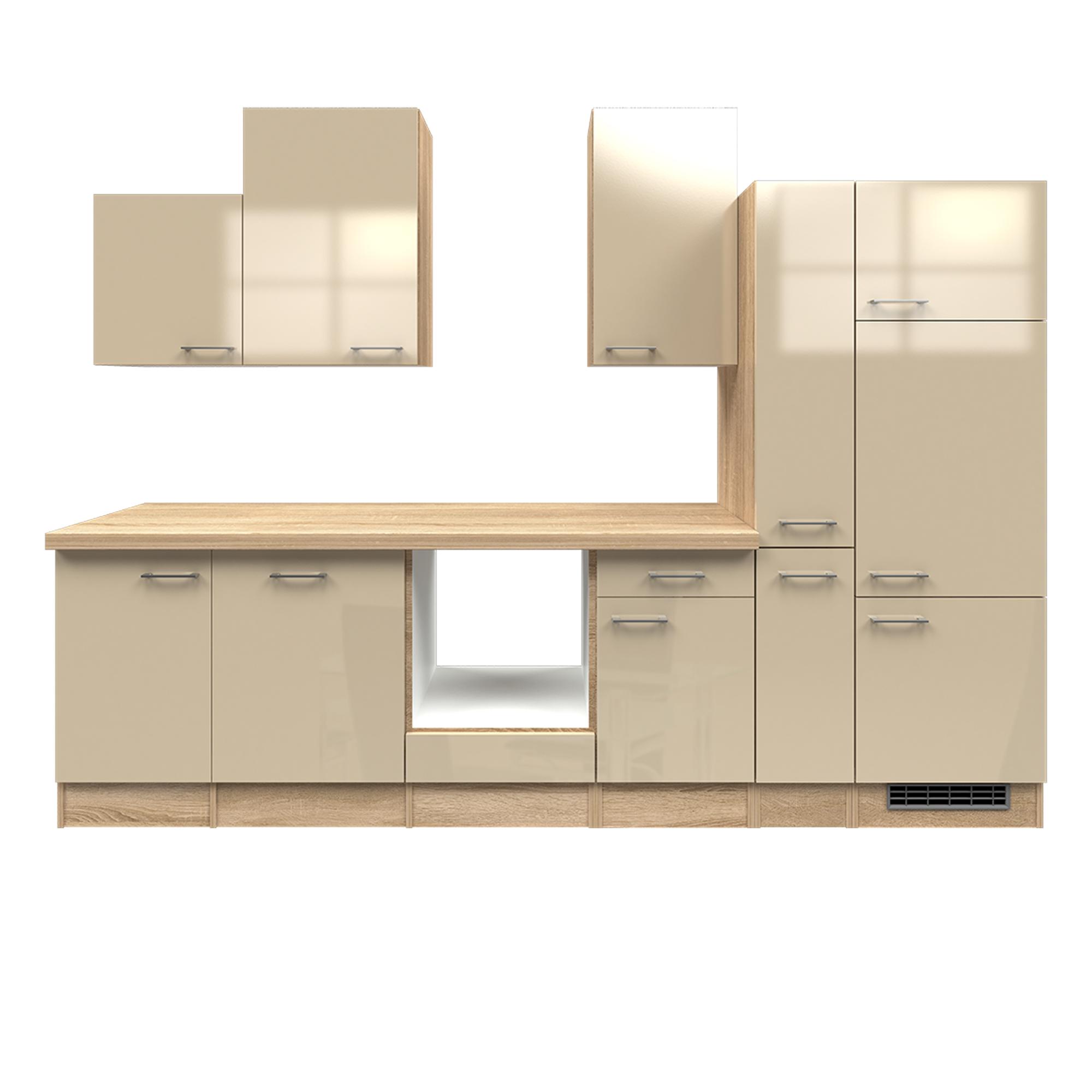 k chenzeile nepal k chen leerblock breite 310 cm creme gl nzend k che k chenzeilen. Black Bedroom Furniture Sets. Home Design Ideas