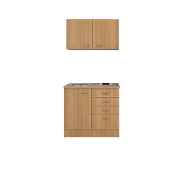 Singleküche NANO - Breite 100 cm - Buche