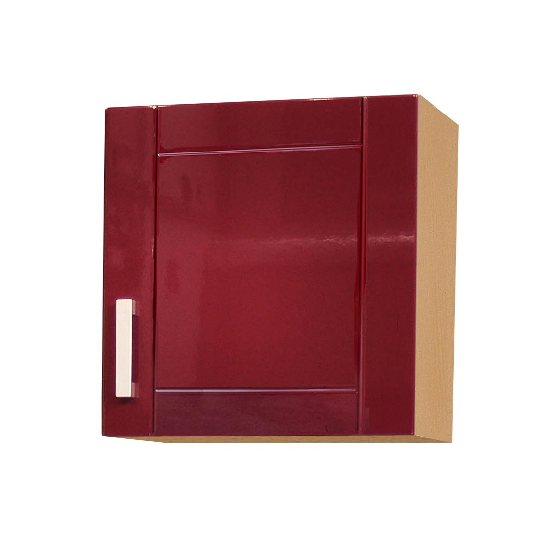 k chen h ngeschrank varel 1 t rig 60 cm breit hochglanz bordeaux rot k che k chen. Black Bedroom Furniture Sets. Home Design Ideas