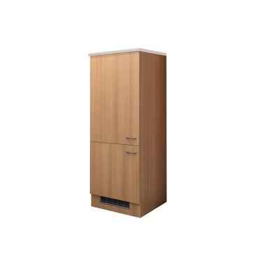 Midi-Kühlschrankumbauschrank Küche NANO - 2türig - 60 cm breit - Buche