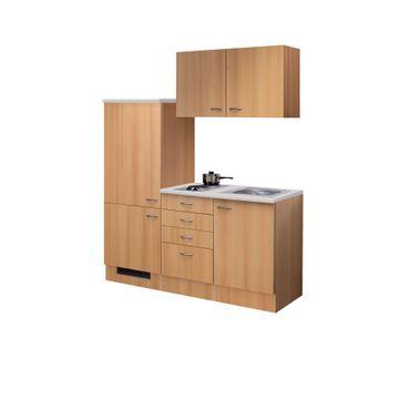 Singleküche NANO - Breite 160 cm - Buche