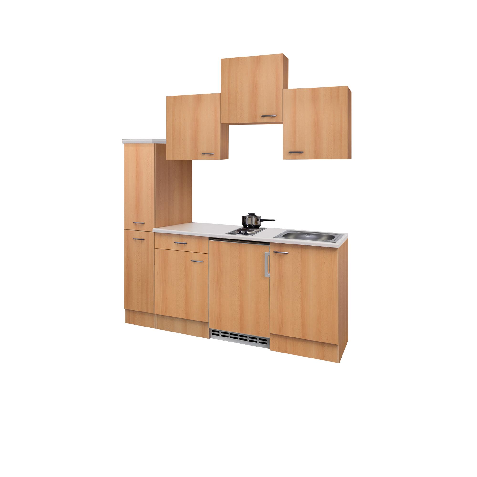 singlek che nano 10 teilig 180 cm breit buche k che singlek chen. Black Bedroom Furniture Sets. Home Design Ideas