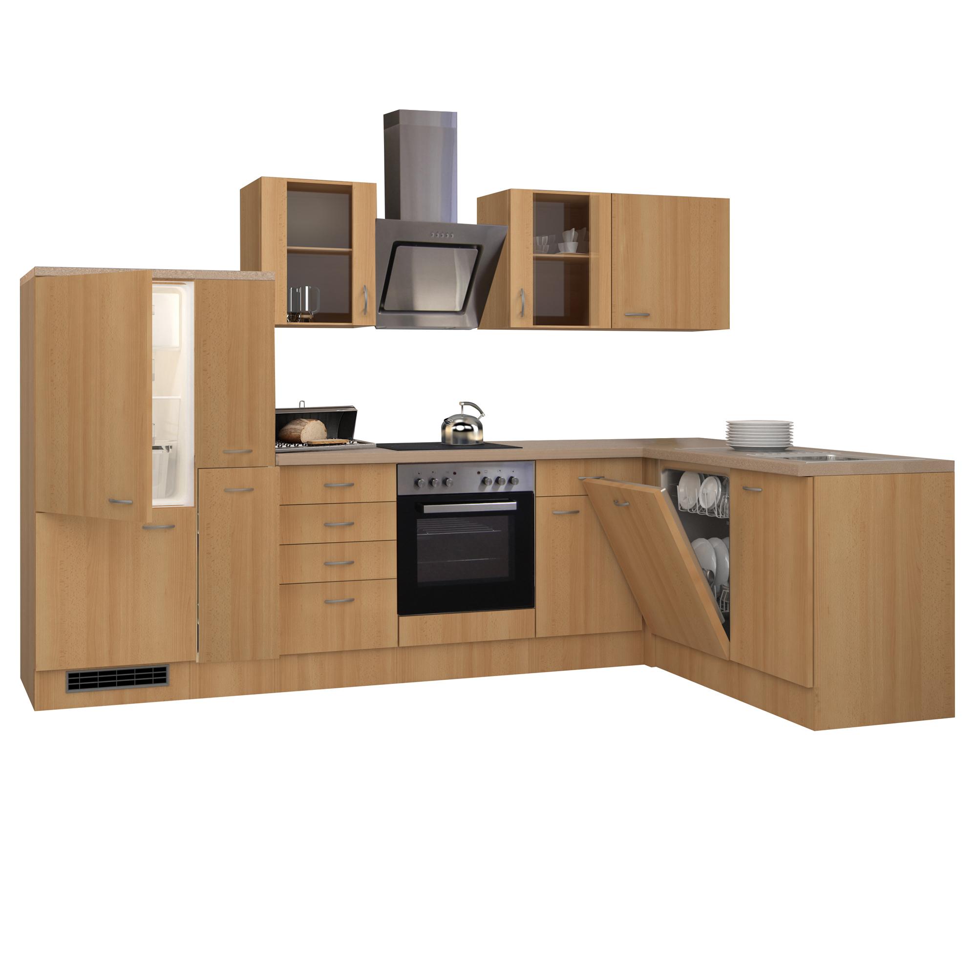 eckk che nano k che mit e ger ten breite 310 x 170 cm buche k che k chenzeilen. Black Bedroom Furniture Sets. Home Design Ideas