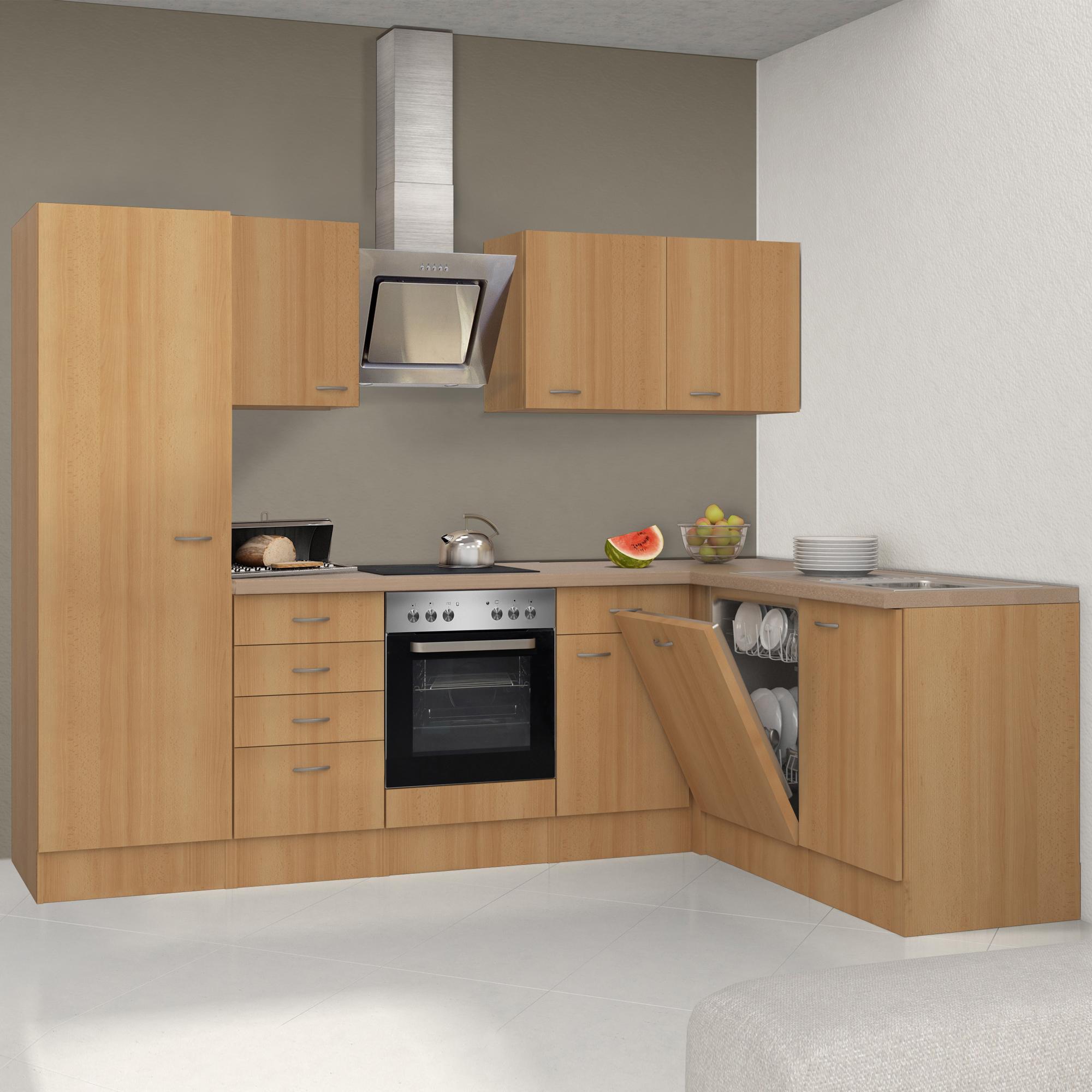 Küchen-Hochschrank NANO - 16-türig - 16 cm breit - Buche