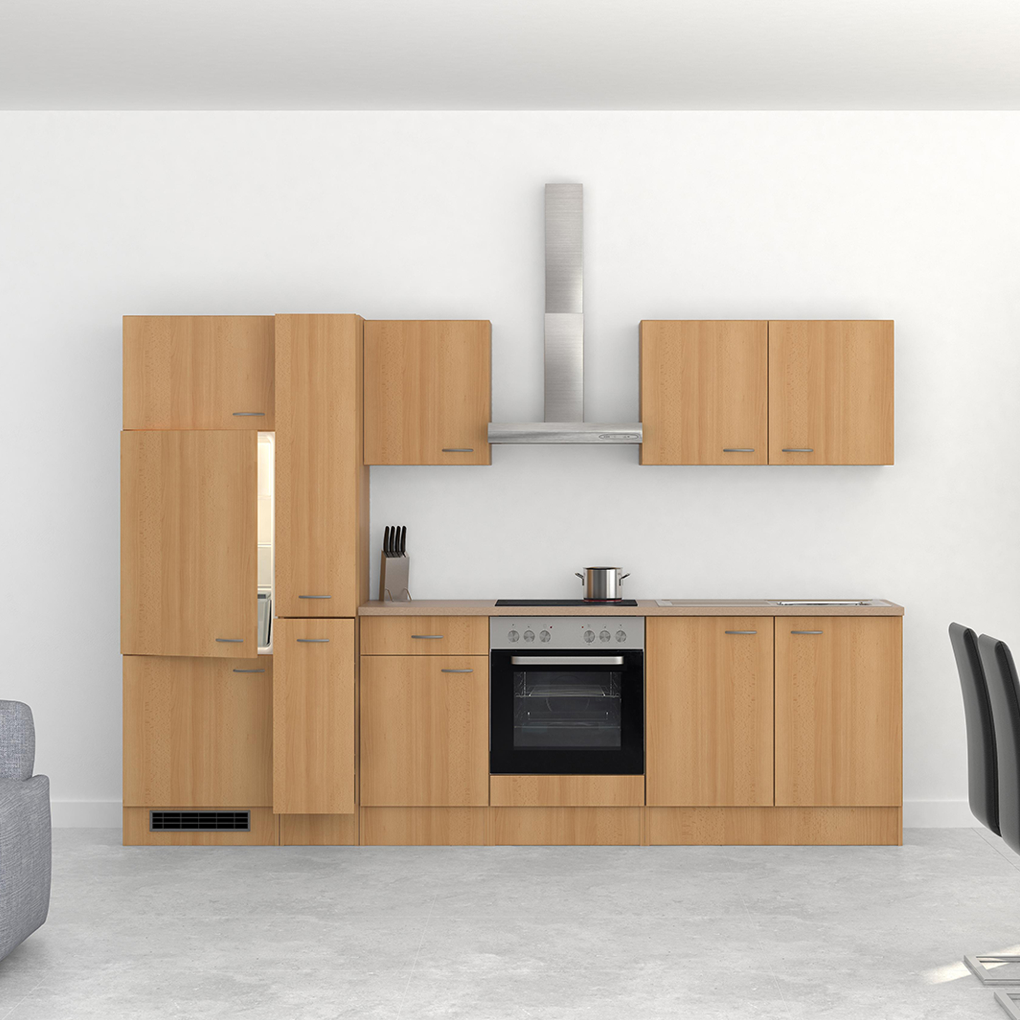 k chen h ngeschrank nano 1 t rig 50 cm breit buche k che k chen h ngeschr nke. Black Bedroom Furniture Sets. Home Design Ideas