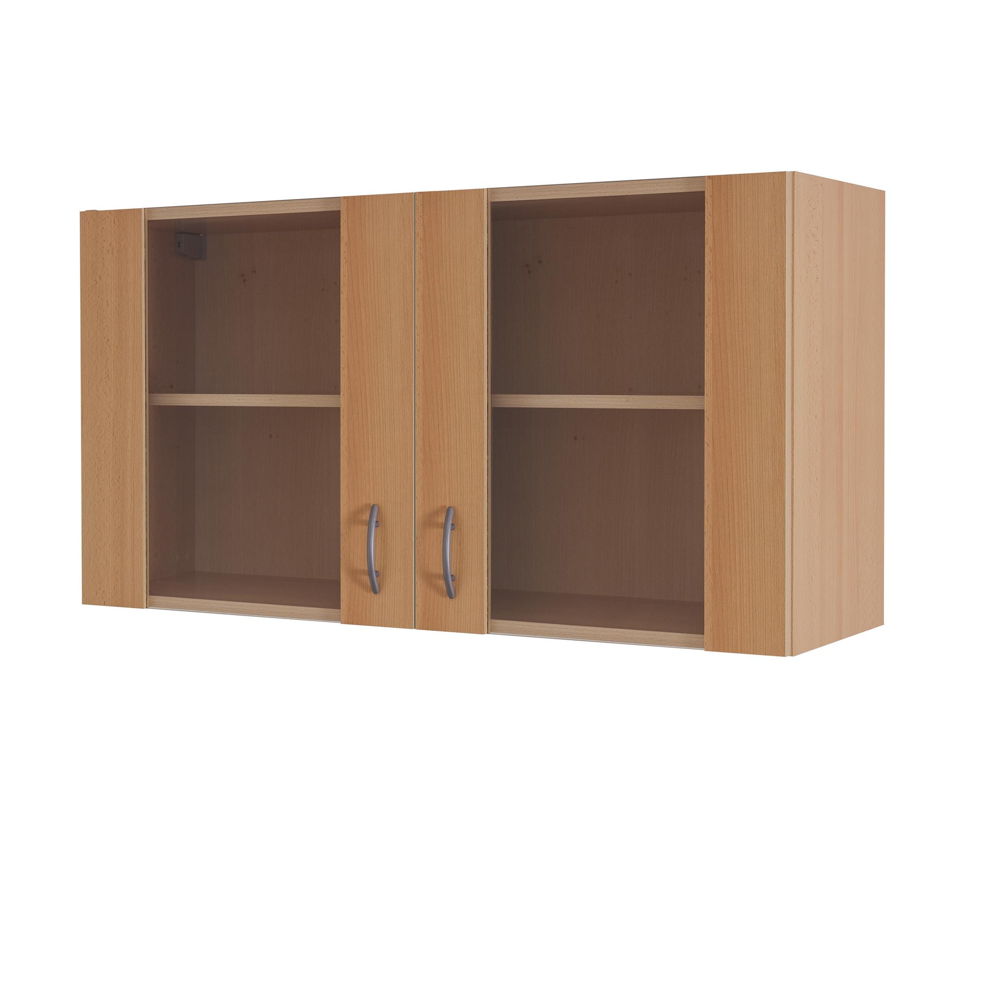 glas h ngeschrank k chen h ngeschrank oberschrank k chenschrank 100 cm buche ebay. Black Bedroom Furniture Sets. Home Design Ideas