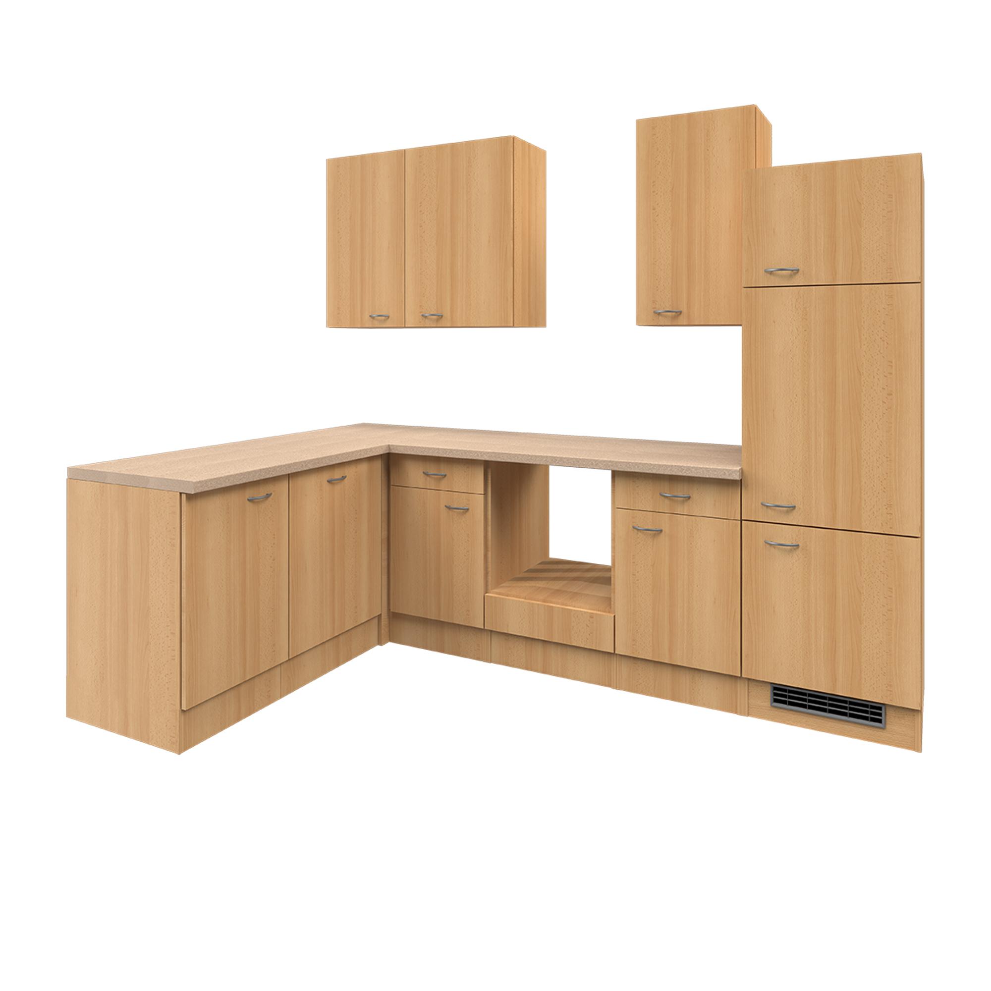 eckk che nano l k che ohne e ger te breite 280 x 170 cm buche k che k chenzeilen. Black Bedroom Furniture Sets. Home Design Ideas