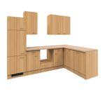 Eckküche NANO - L-Küche ohne E-Geräte - Breite 280 x 170 cm - Buche