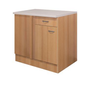 Küchen-Eckunterschrank NANO - 1-türig - 110 cm breit - Buche