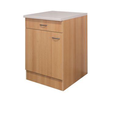 Küchen-Unterschrank NANO - 1-türig - 60 cm breit - Buche
