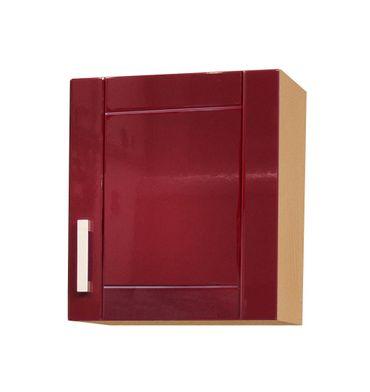 Küchen-Hängeschrank VAREL - 1-türig - 50 cm breit - Hochglanz Bordeaux Rot