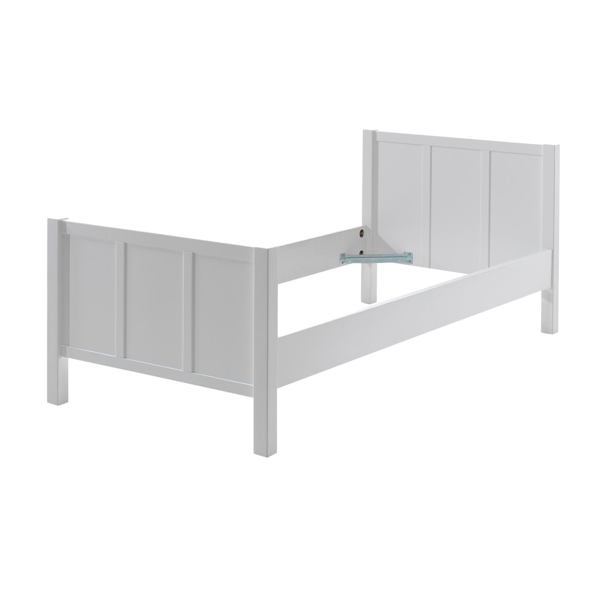 Details Zu Kinderbett Jungenbett Mädchenbett Jugendbett Einzelbett Bett 90 X 200 Cm Weiss