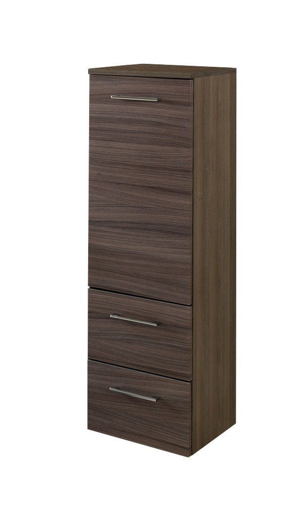 bad midischrank marinello 1 t rig 2 schubladen 35 cm breit eiche dunkel mit. Black Bedroom Furniture Sets. Home Design Ideas