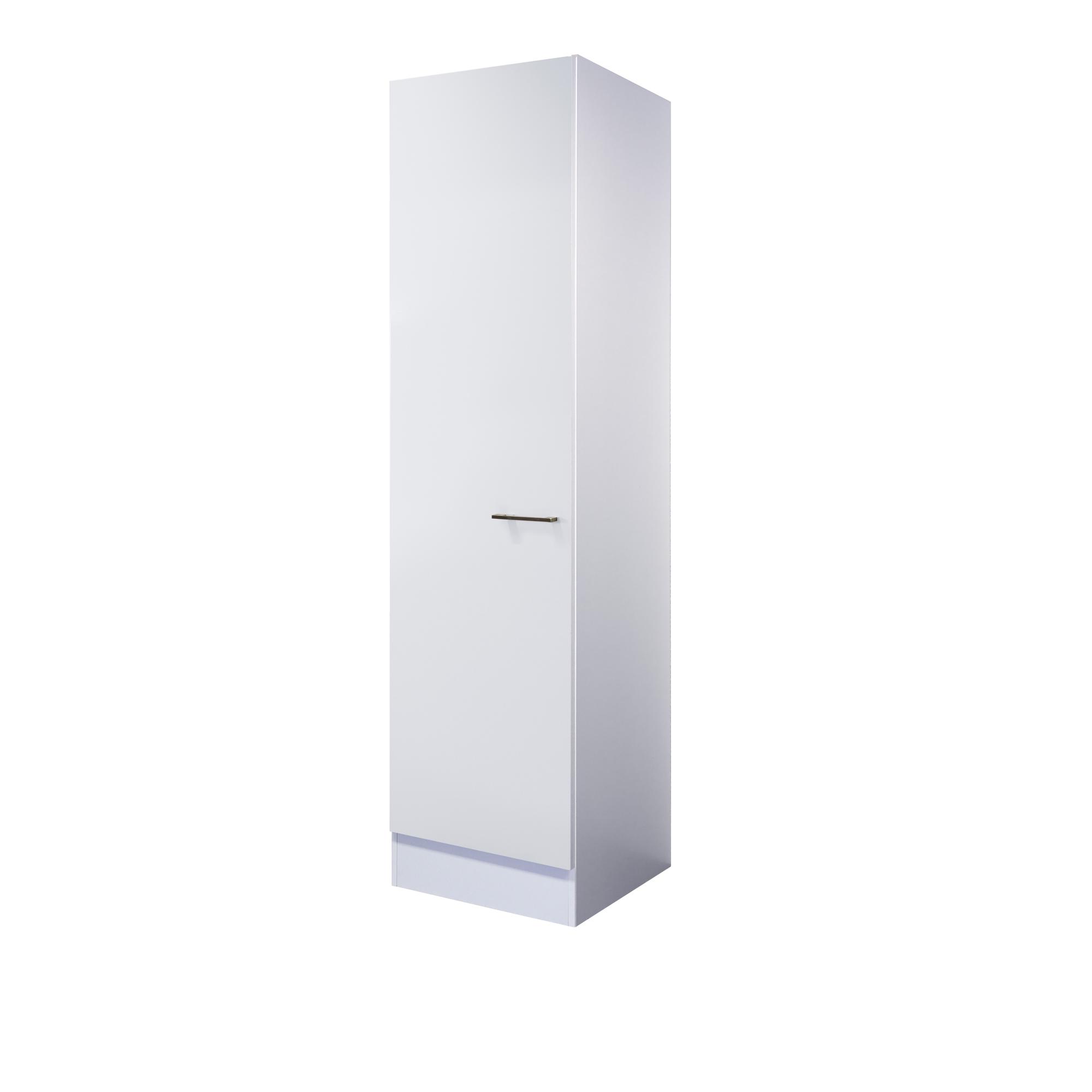 Details zu Küchen-Hochschrank CORVARA - 1-türig - 50 cm breit - Weiß