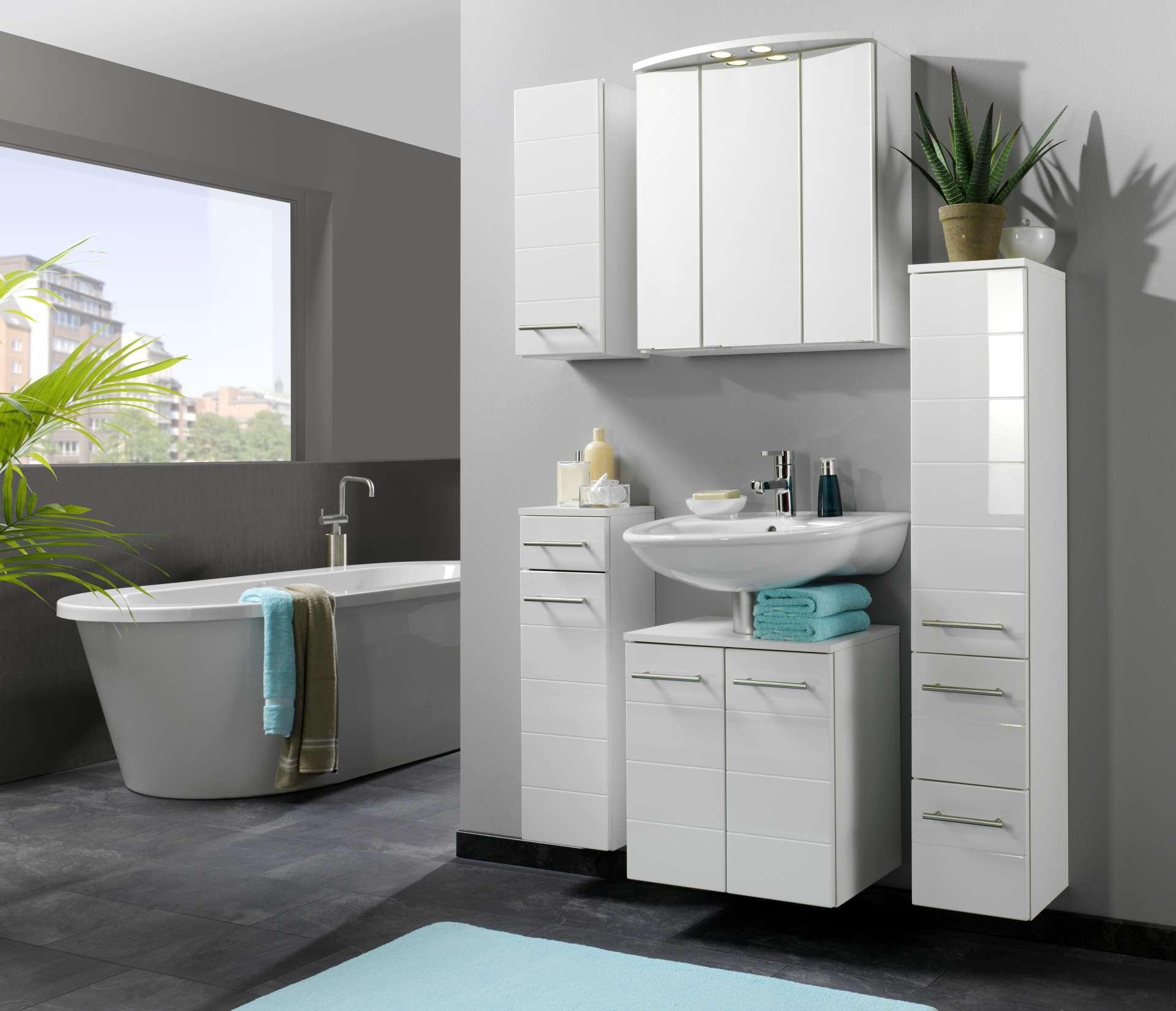 bad midischrank rimini 1 t rig 2 schubladen 25 cm. Black Bedroom Furniture Sets. Home Design Ideas