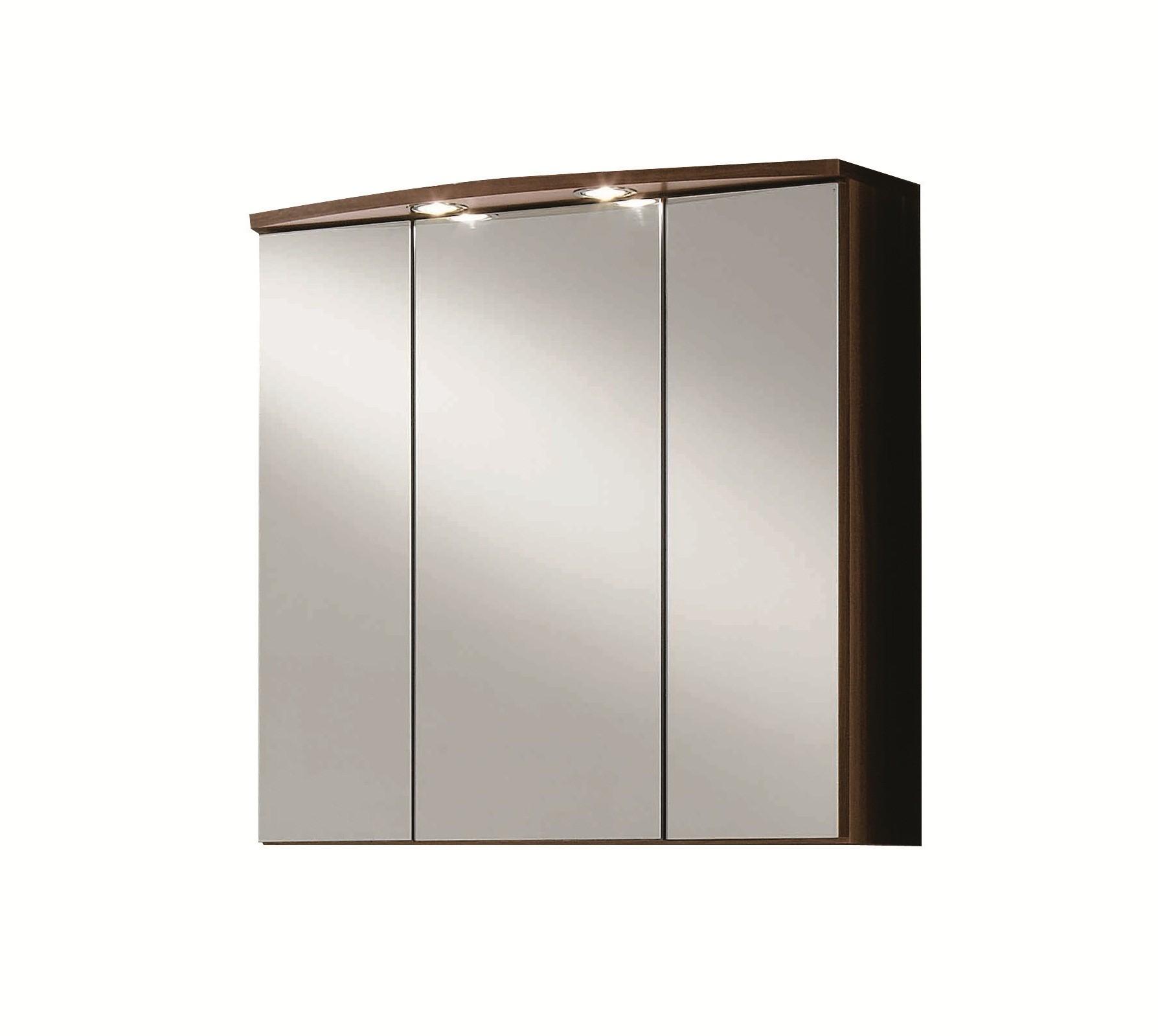 Bad-Spiegelschrank PISA - 3-türig - 70 cm breit - Nussbaum Bad ...