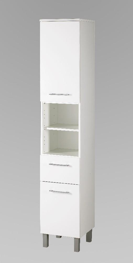 Bad-Hochschrank PISA - 2-türig, 1 Schublade - 35 cm breit ...