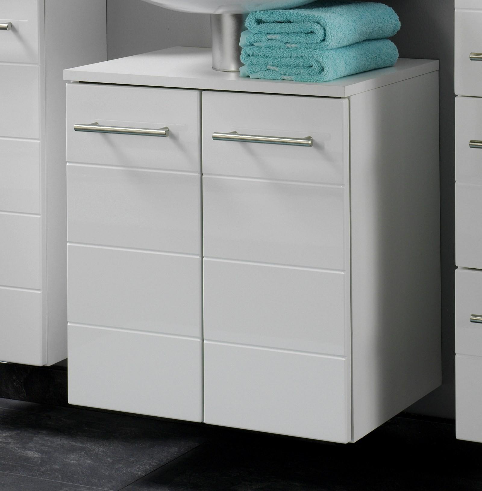 bad waschbeckenunterschrank rimini 2 t rig 50 cm breit hochglanz wei bad. Black Bedroom Furniture Sets. Home Design Ideas