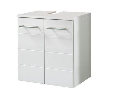 Bad-Waschbeckenunterschrank RIMINI - 2-türig - 50 cm breit - Hochglanz Weiß