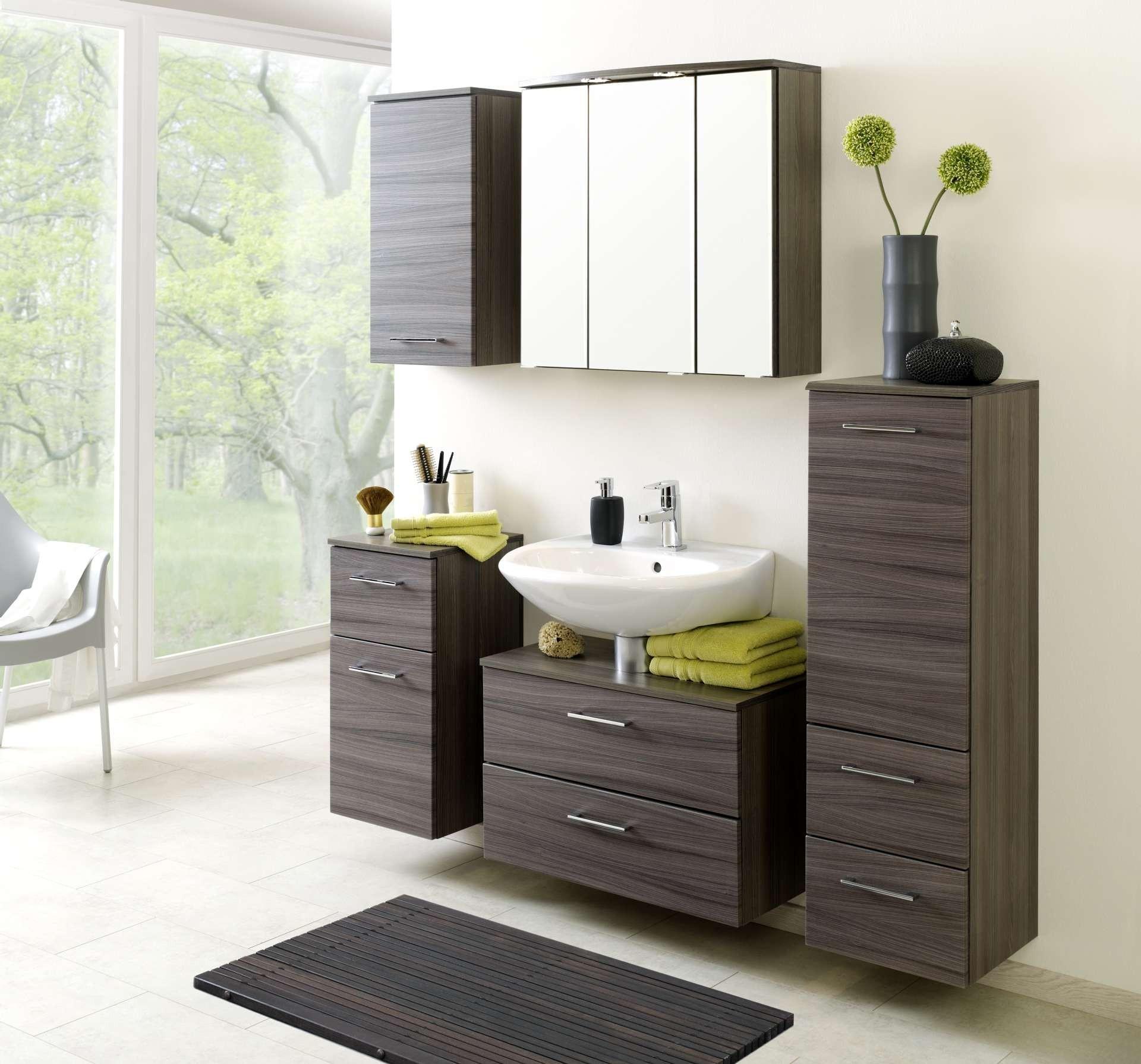 bad unterschrank marinello 1 t rig 1 schublade 35 cm breit eiche dunkel mit. Black Bedroom Furniture Sets. Home Design Ideas