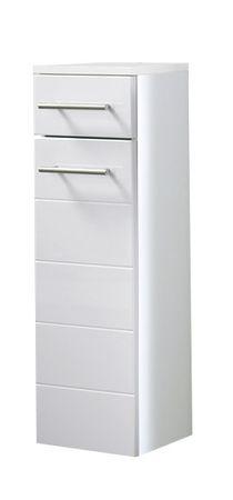 Bad-Unterschrank RIMINI - 1-türig, 1 Schublade - 25 cm breit - Hochglanz Weiß