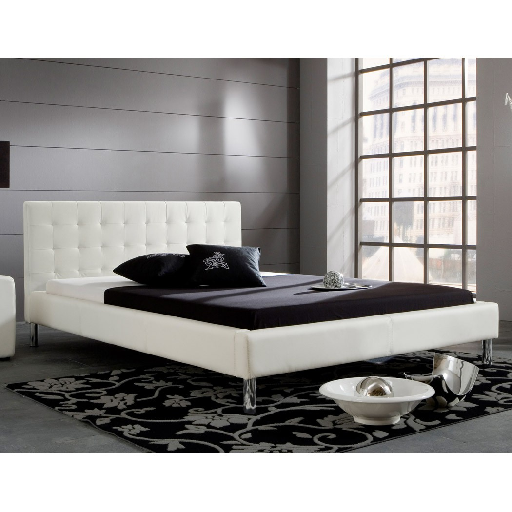 weies lederbett 180x200 stunning bett uuromanceuu dekor. Black Bedroom Furniture Sets. Home Design Ideas