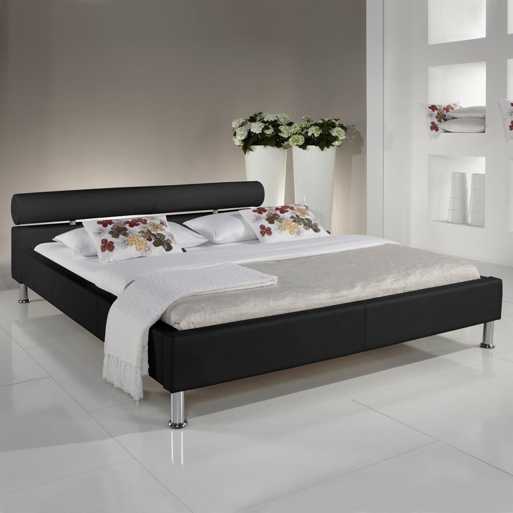 Polsterbett Kunst-Lederbett Schwarz Bett 180x200 cm Andre – Bild 1