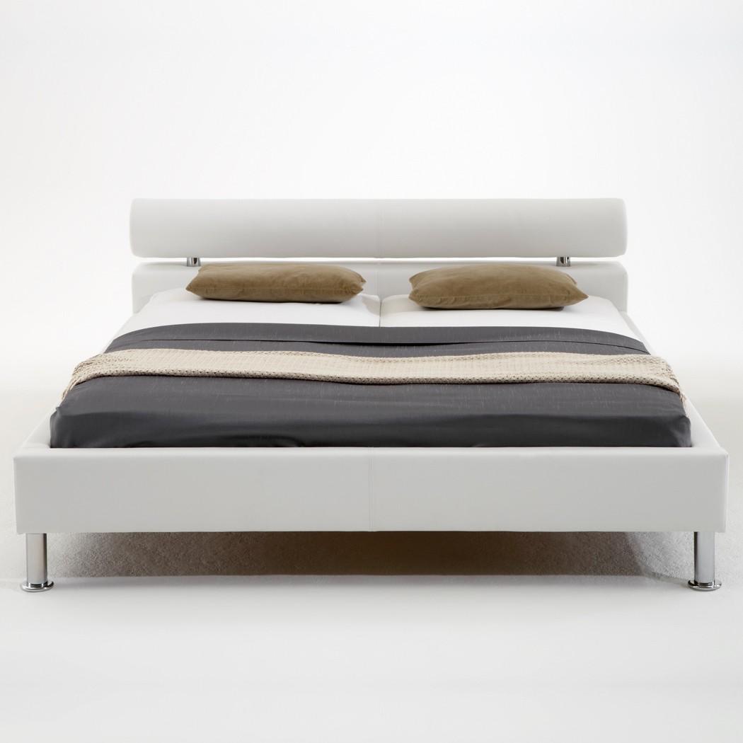 Polsterbett Kunst-Lederbett Weiß Bett 140x200 cm Andre – Bild 4