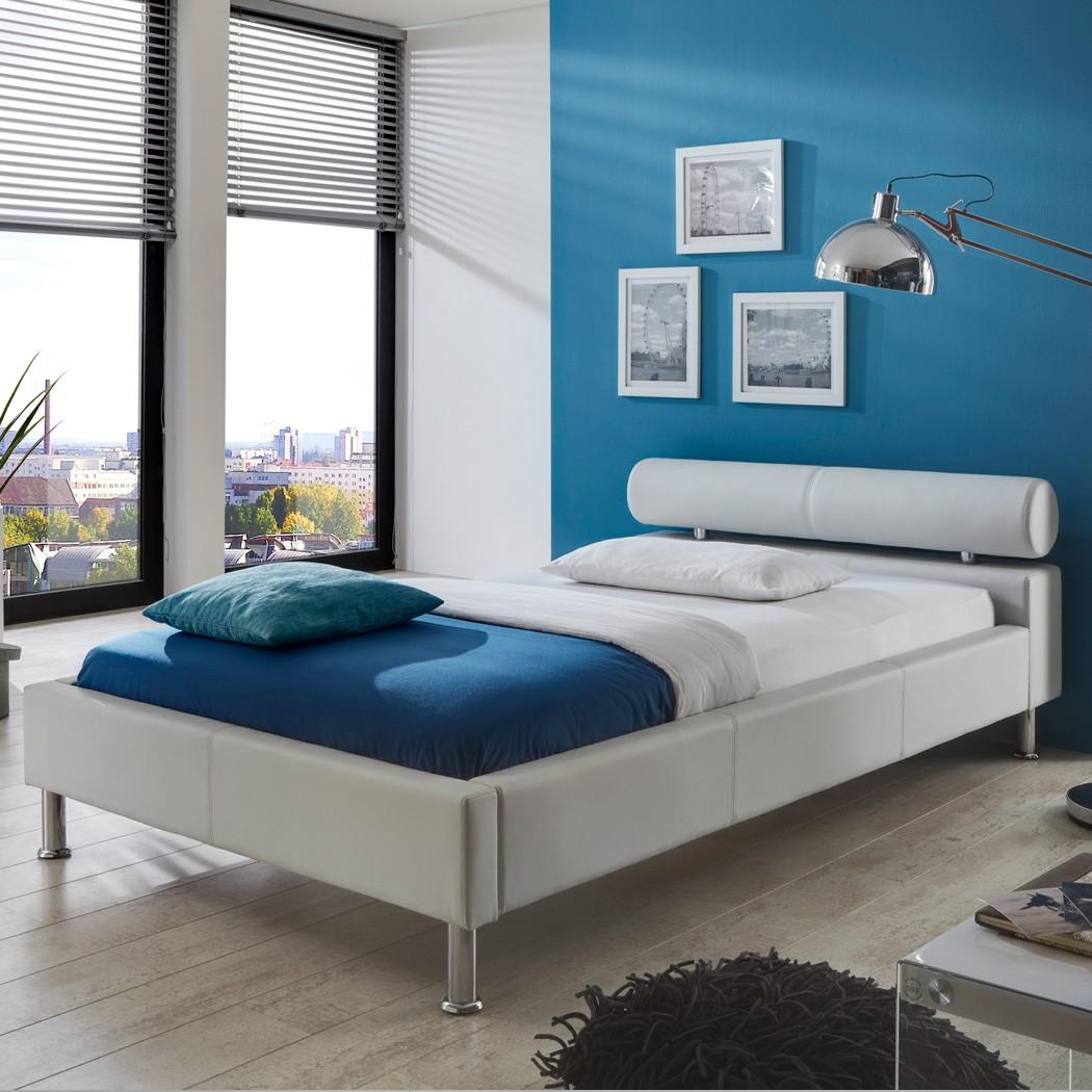 Polsterbett Kunst-Lederbett Weiß Bett 160x200 cm Andre – Bild 5