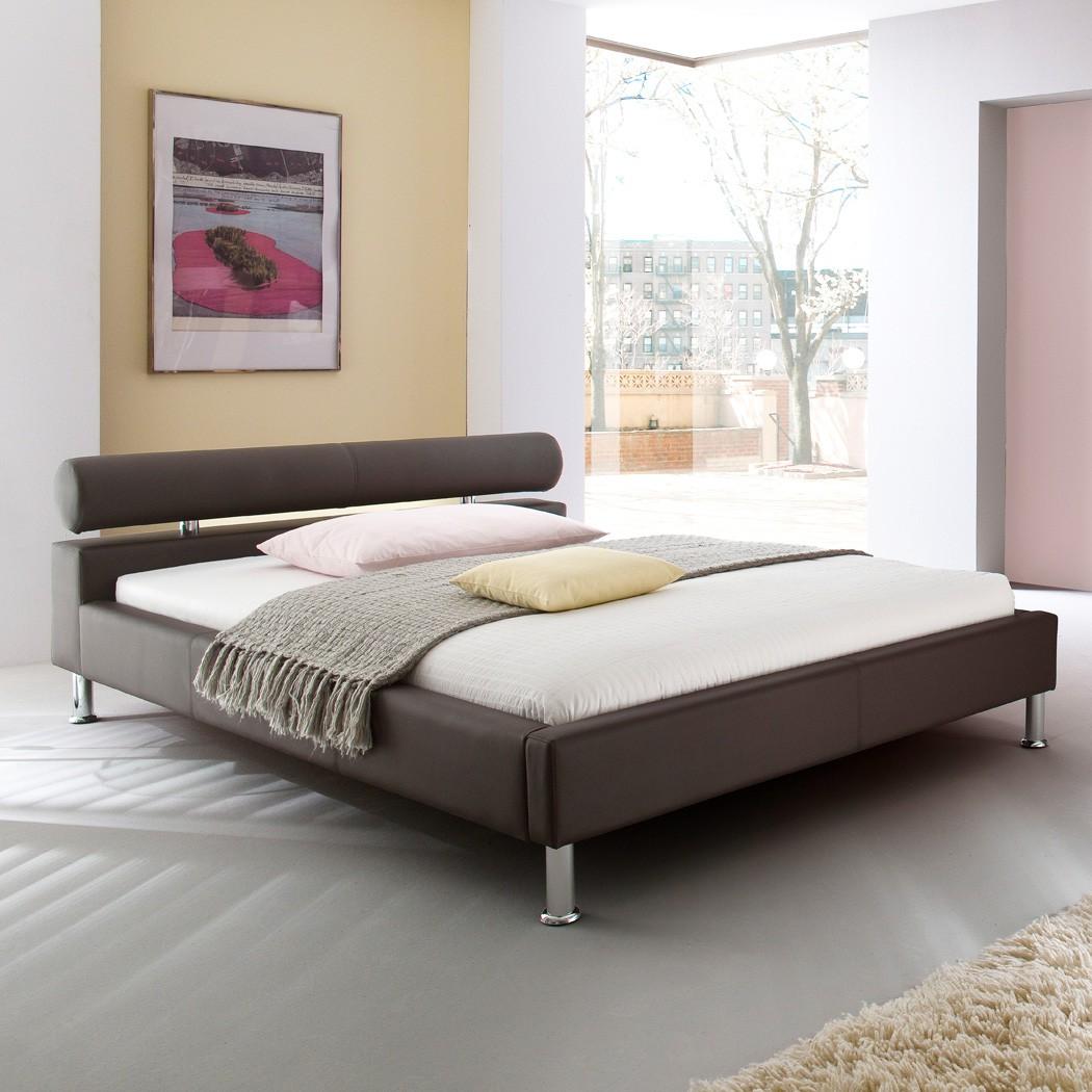 Polsterbett Kunst-Lederbett Braun Bett 180x200 cm Andre – Bild 1
