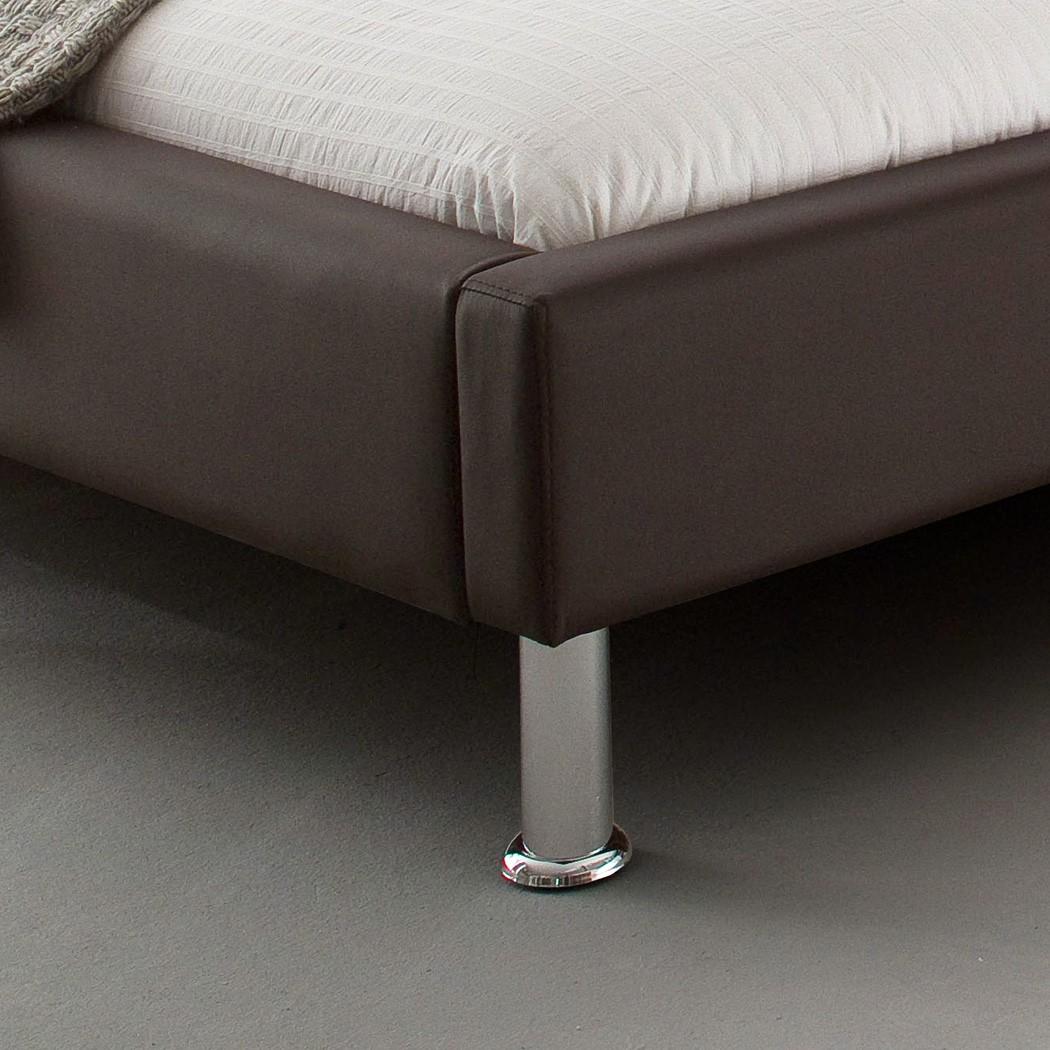 Polsterbett Kunst-Lederbett Braun Bett 160x200 cm Andre – Bild 2