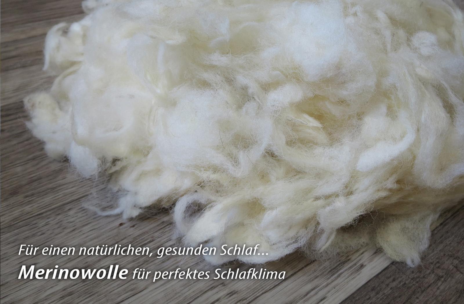 Leichte Ganzjahres-Bettdecke Merino Schaf-Schurwolle Melina – Bild 3