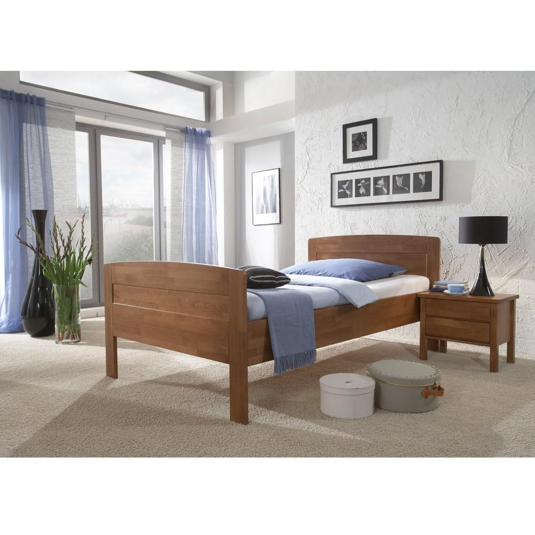 komfortbett ver gr en massivholzbett betten holz massiv wallnuss kirstin ebay. Black Bedroom Furniture Sets. Home Design Ideas