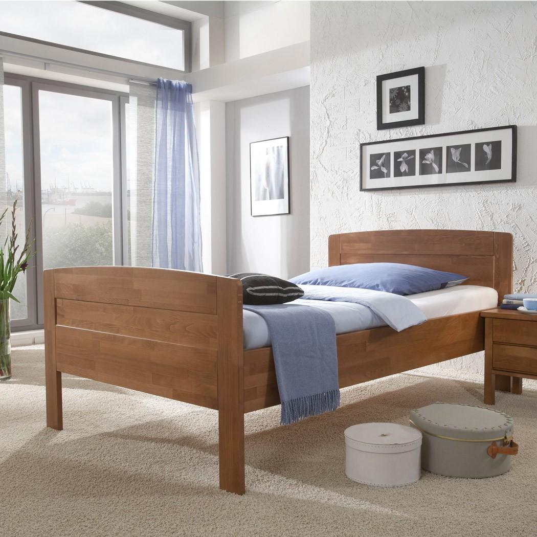 massivholzbett buche walnussfarben gebeizt kirstin. Black Bedroom Furniture Sets. Home Design Ideas