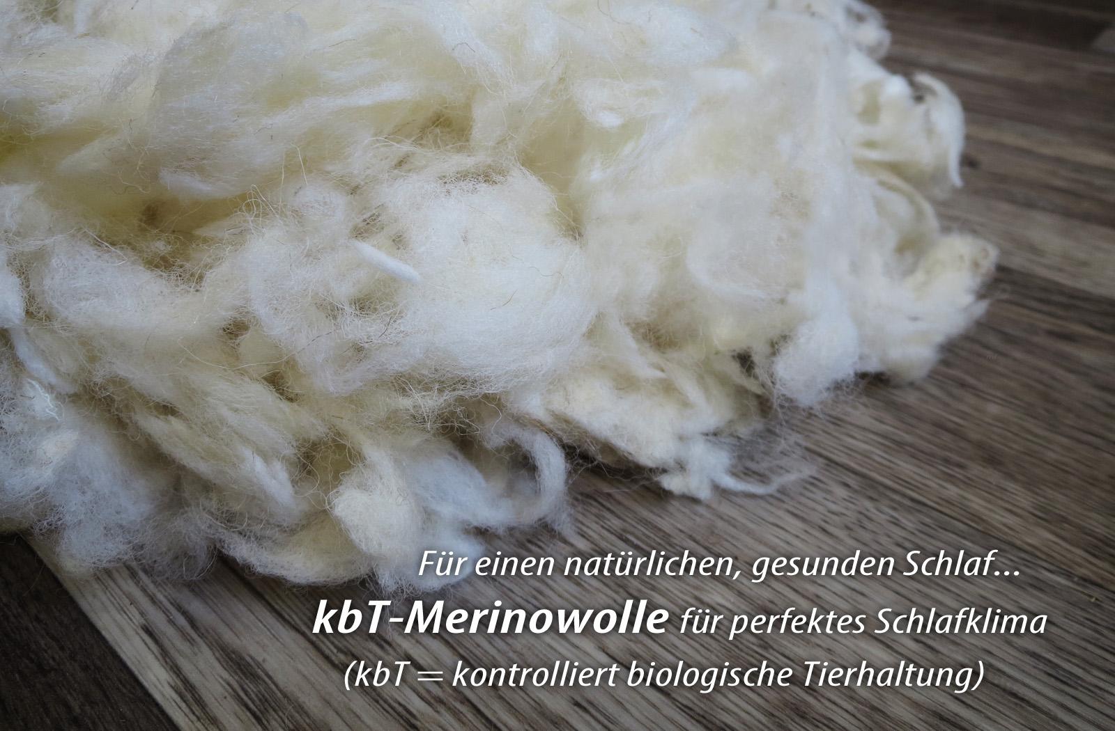 Bettdecke Sommer-Decke  KBT Merino Schurwolle + KBA Baumwolle BIO Natur Nadia – Bild 3