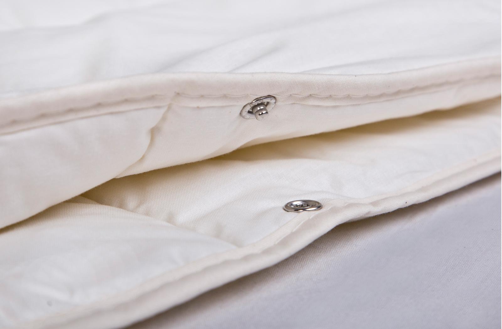 Bettdecke 4-Jahreszeiten-Decke  KBT Merino Schurwolle + KBA Baumwolle BIO Natur Nadia – Bild 4