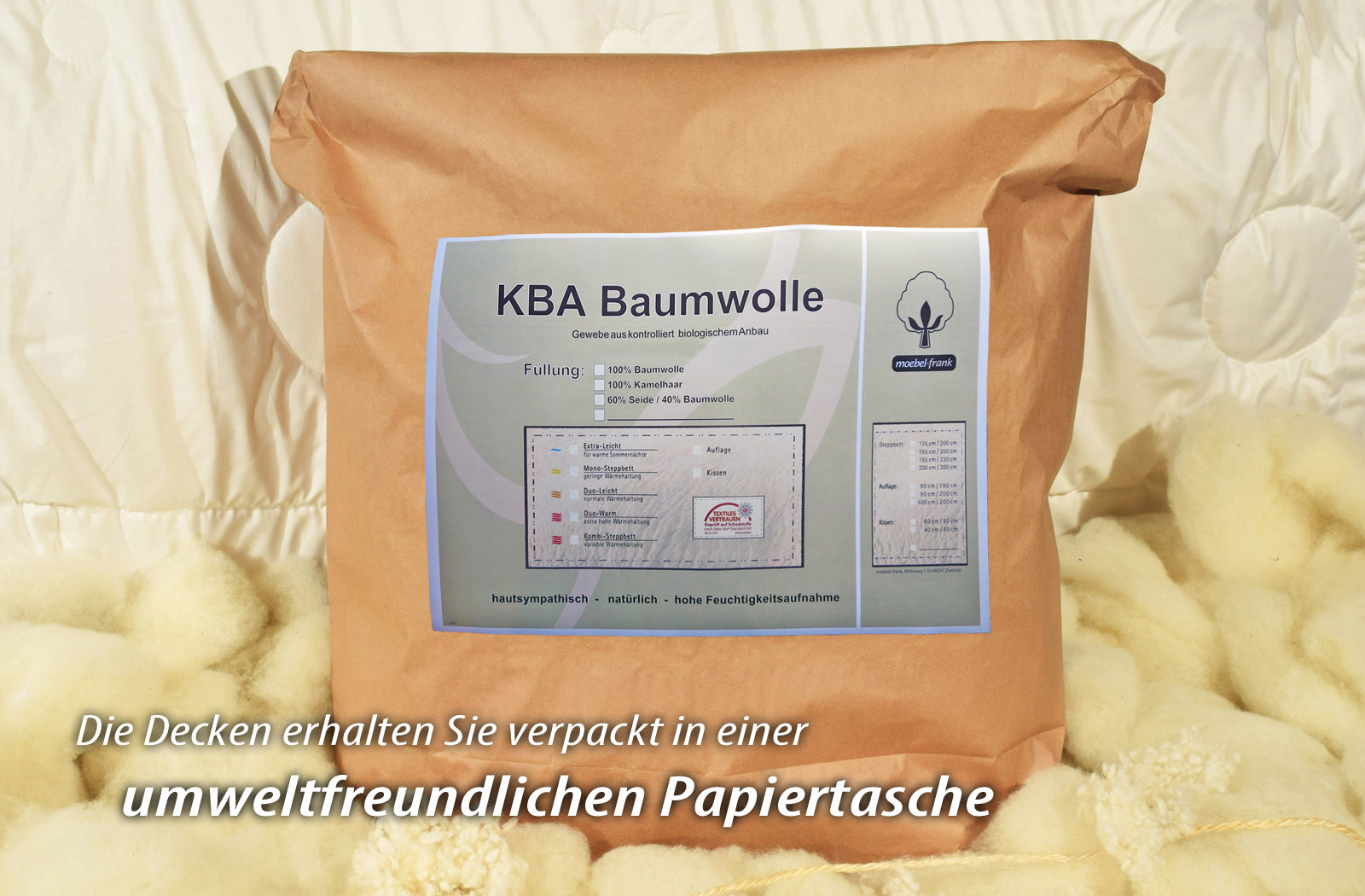 Bettdecke Kamelhaar KBA Baumwolle Winter-Bettdecke Bio Decke Nadin – Bild 6