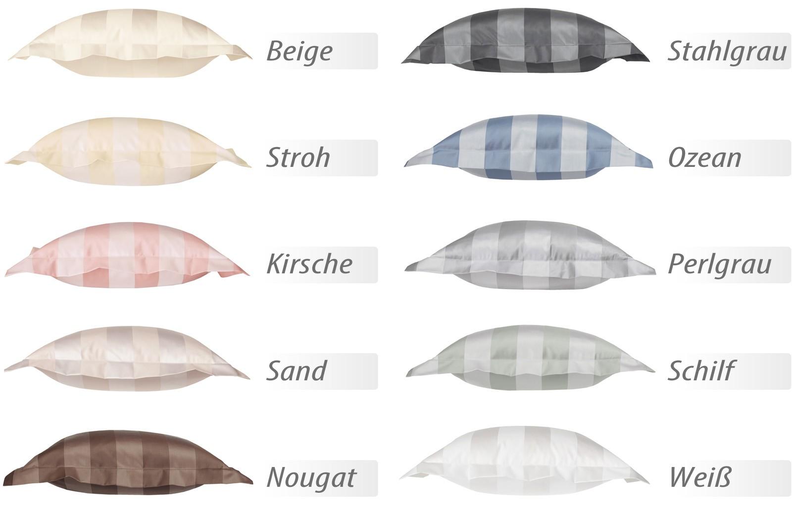 Curt Bauer Mako-Brokat-Damast Bettwäsche 2044 Como versch. Farben – Bild 2